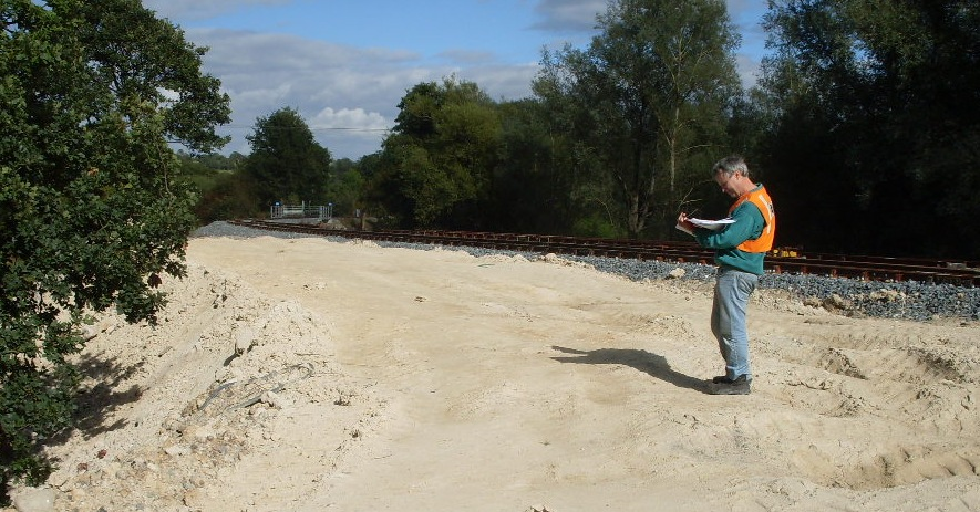Landscape planning input into planning applications, surveying a railway site